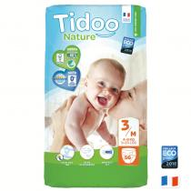 Sélection couches Tidoo en promotion - Ex: Pack de 50 couches écologiques Tidoo Nature - Taille 3 (brindilles.fr)