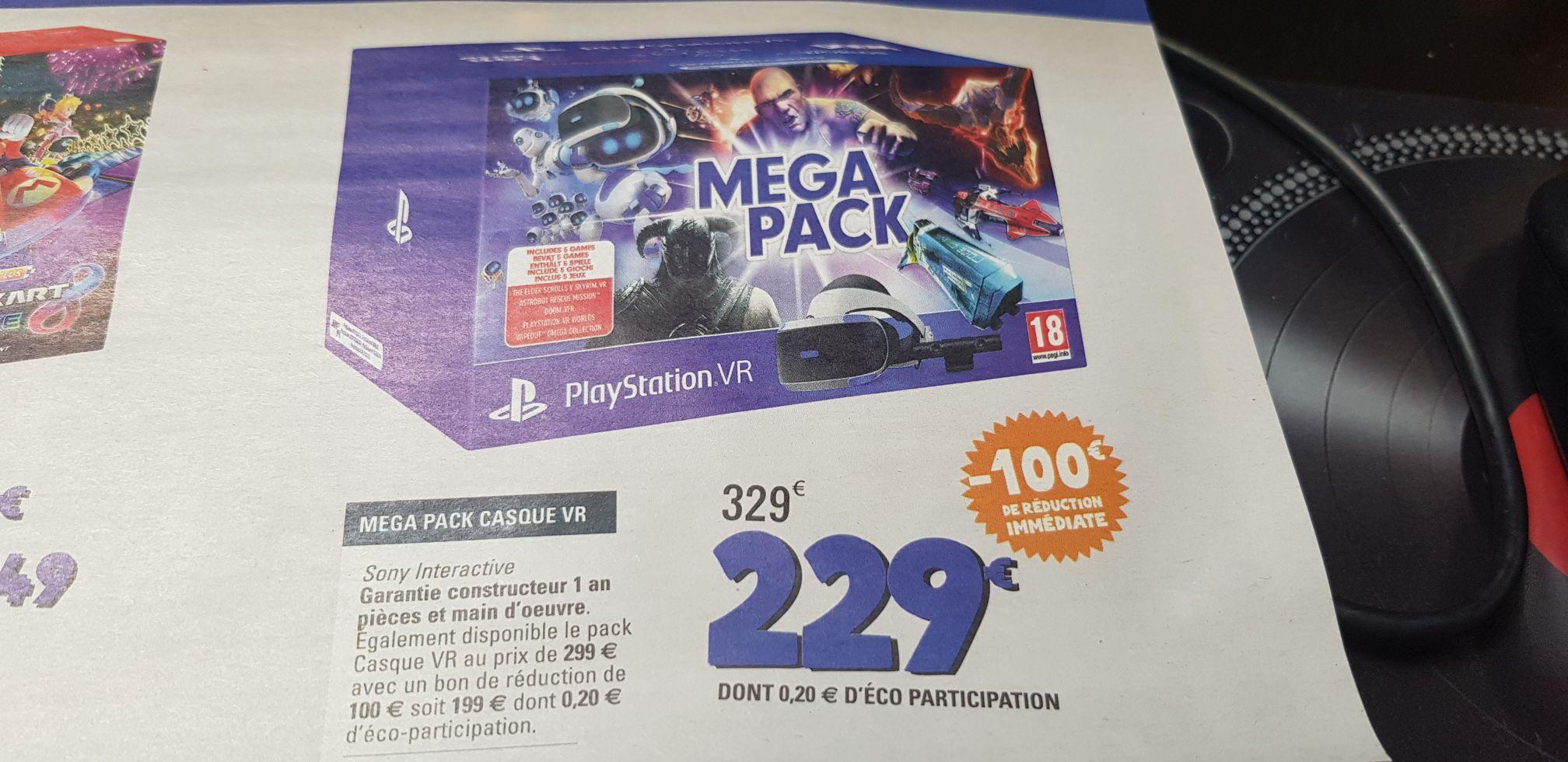 Méga Pack PlayStation VR V2 MK4 + Caméra + 5 Jeux : VR Worlds + Skyrim + Doom VFR + WipEout OC + Astro Bot RM (Dématérialisé)