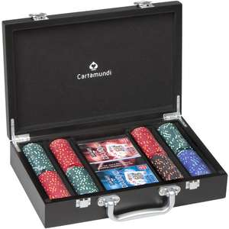 Coffret bois Poker Cartamundi 200 jetons