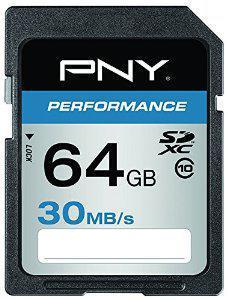 Carte mémoire SDXC PNY Performance 64 Go Classe 10