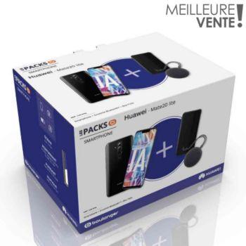 Huawei Mate 20 Lite (Kirin 710, 4 Go de RAM, 64 Go) + Enceinte Bluetooth CM51 + Etui