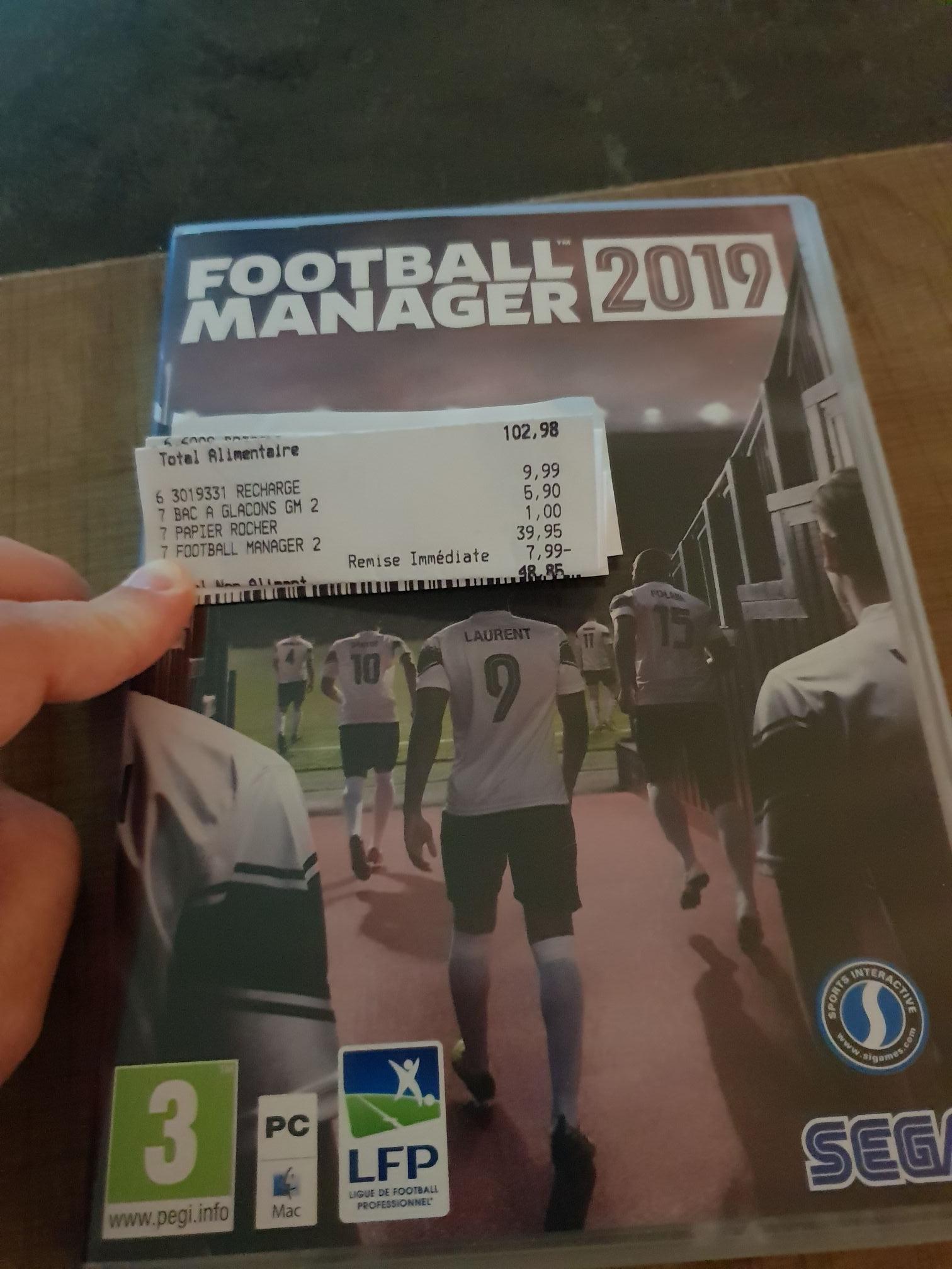 Jeu Football Manager 2019 sur PC