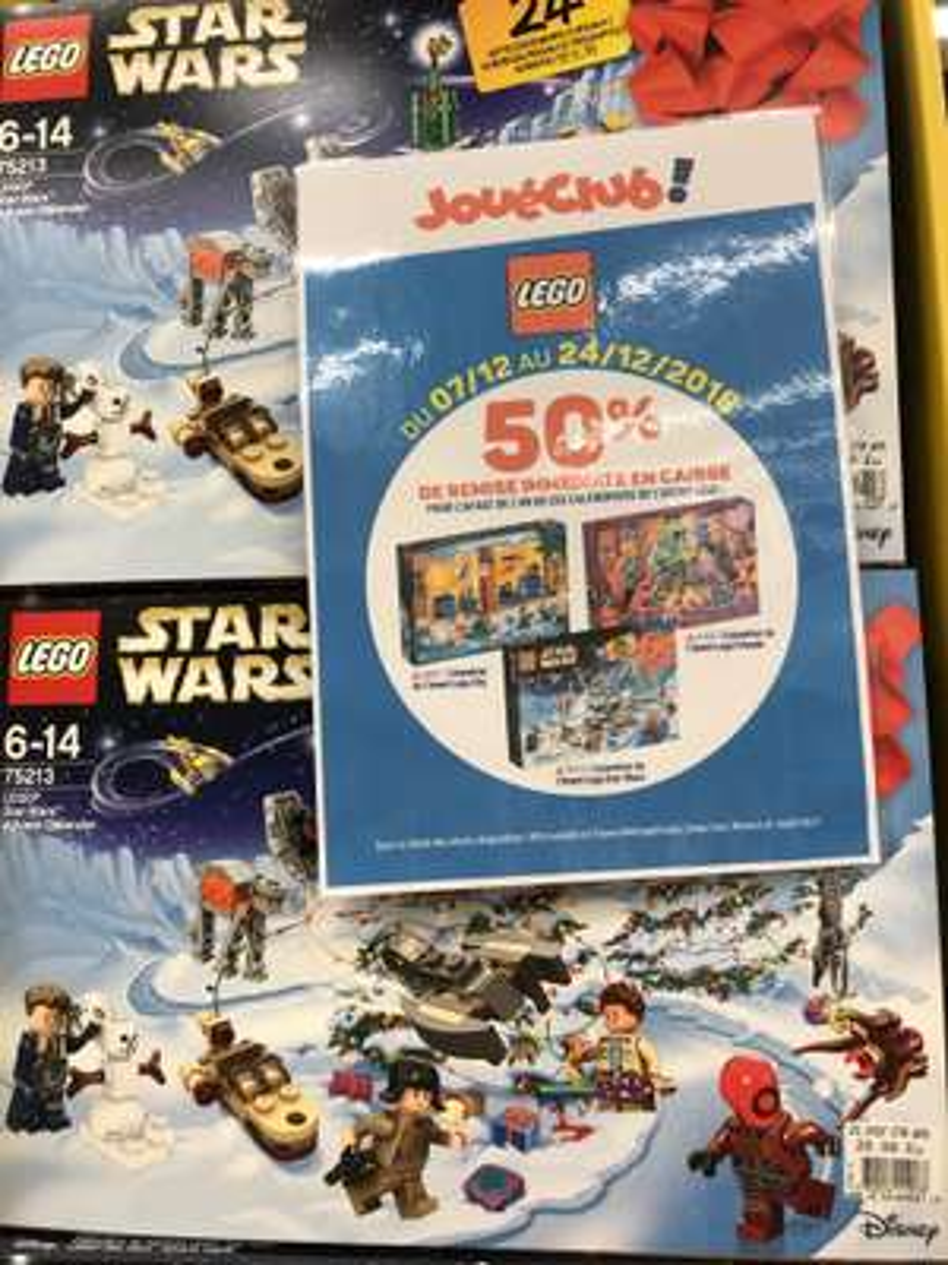 Calendrier de l'avent Lego Star Wars ou Lego City