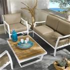 Sofa yacht en simili-cuir pour extérieur
