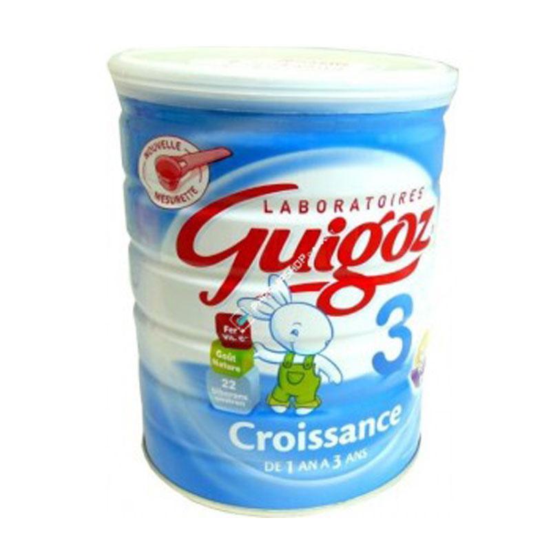 3 boîtes de Lait Guigoz Croissance 3eme âge (3€ en BDR)