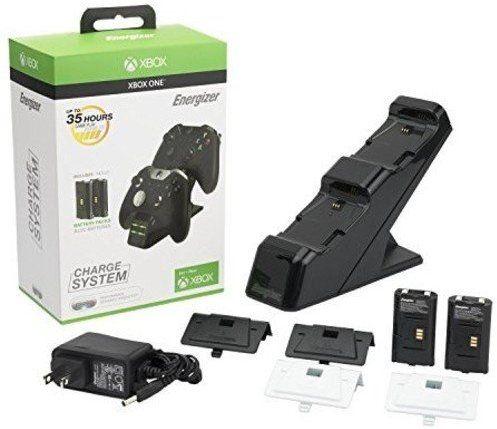 Chargeur de batterie Energizer avec 2 batteries pour Xbox One - Noir