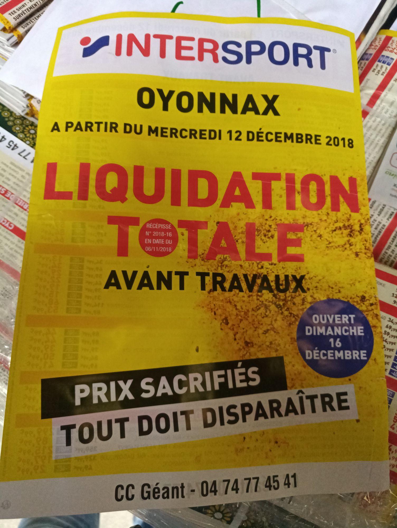 Liquidation totale dans tout le magasin avant travaux - Arbent Oyonnax (01)