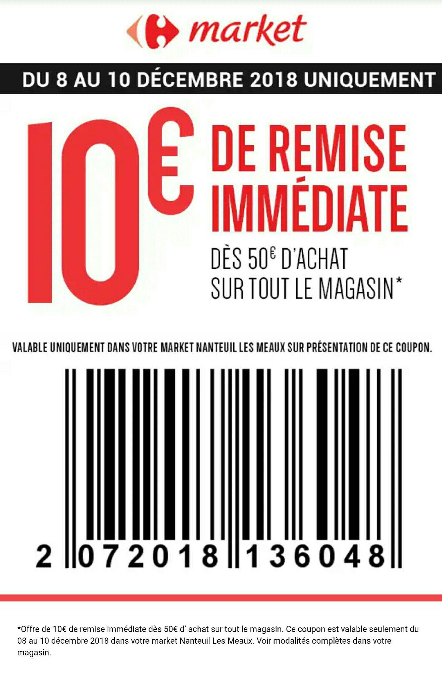 10€ de réduction immédiate dès 50€ d'achat - Nanteuil (77)