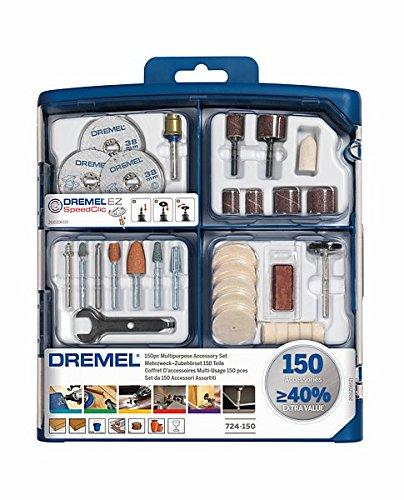 Dremel 2615S724JA 724 - Coffret de 150 Accessoires s724, Gris