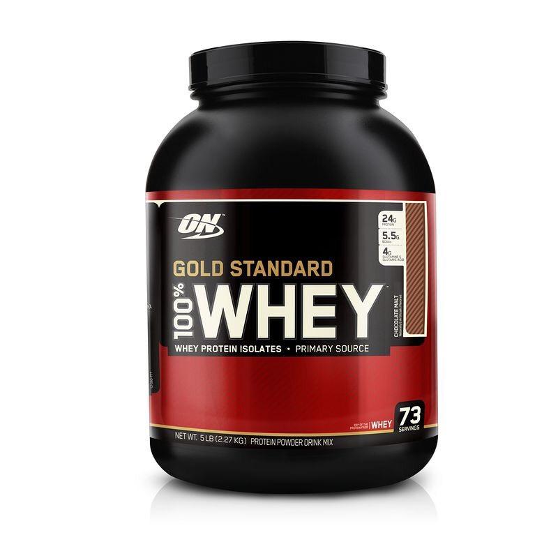 Pot de Protéines Whey Optimum Nutrition 100% Gold Standard Protéine Chocolat - 2.27kg