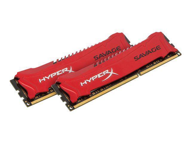 RAM Kingston HyperX Savage 16 Go (2x8Go) - 2400 MHz PC3-19200 - CL11 à 90.9€ pour les nouveaux clients ou