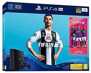 Pack Console PS4 Pro (Noir) - 1 To + FIFA 19