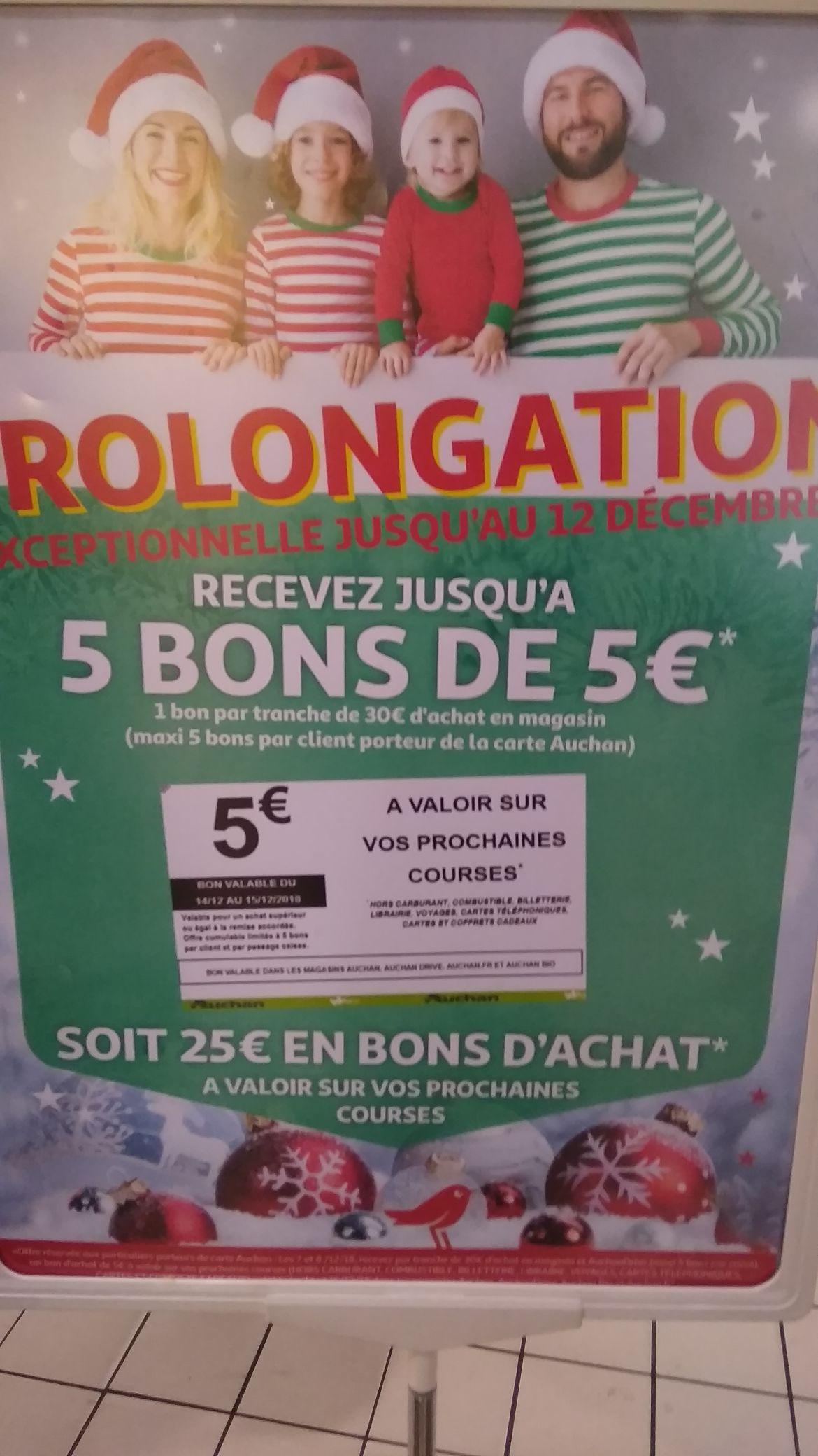 5€ en bon d'achat par tranche de 30€ d'achat (25€ max) - Bordeaux Meriadeck (33)