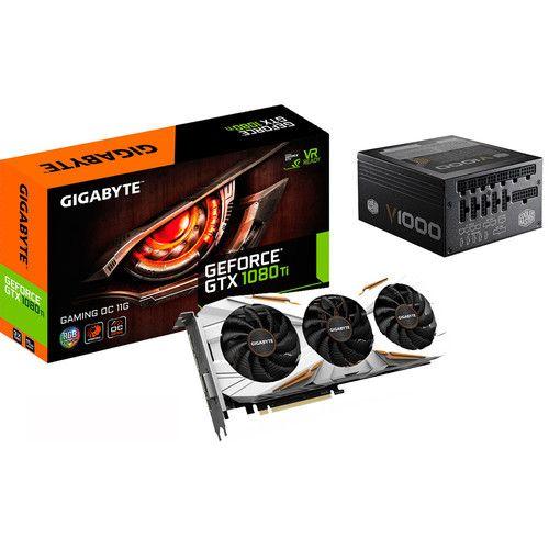 Carte Graphique Gigabyte GeForce GTX 1080 Ti Gaming OC, 11 Go + Alimentation Cooler Master 1000W (751.91€ avec le code PICCHU)