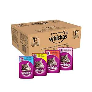 Lot de 84 Sachets d'aliments pour chats Whiskas - 84 x 100G