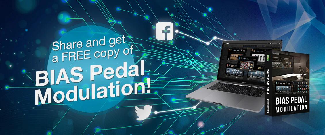 Plugin audio BIAS Pedal Modulation Pack gratuit sur PC/Mac (dématérialisé)