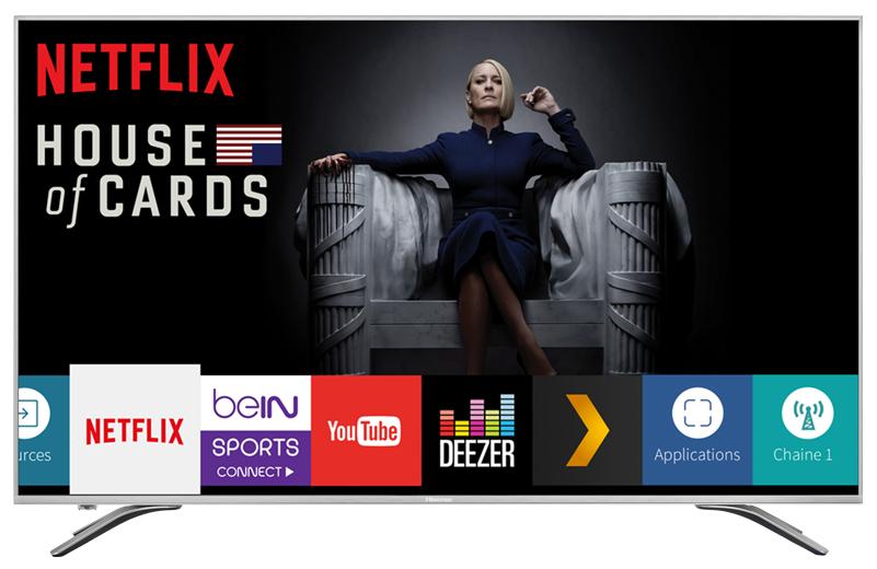 """TV 50"""" Hisense H50A6500 - 4K UHD, Dalle VA, HDR, Quad Core (Via ODR de 50€)"""