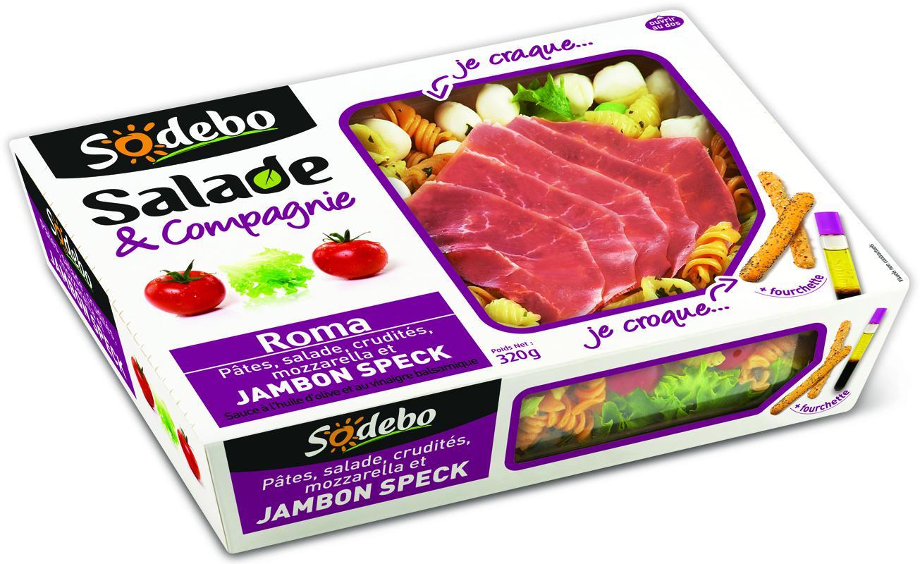 Salade Sodebo Manhattan, Montmartre ou Roma - 320g (Shopmium + BDR)