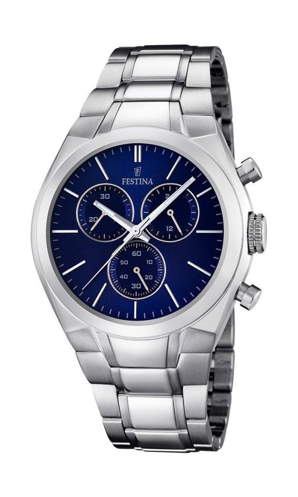Montre Homme Chronographe Festina F16782/3 - Quartz - Bracelet Acier Inoxydable Argent