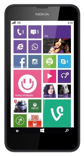 "Smartphone 4.5"" Nokia Lumia 630 - 8Go - plusieurs coloris"