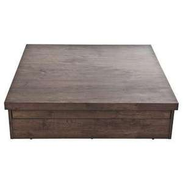 Table basse Square avec coffre de rangement - Coloris chêne