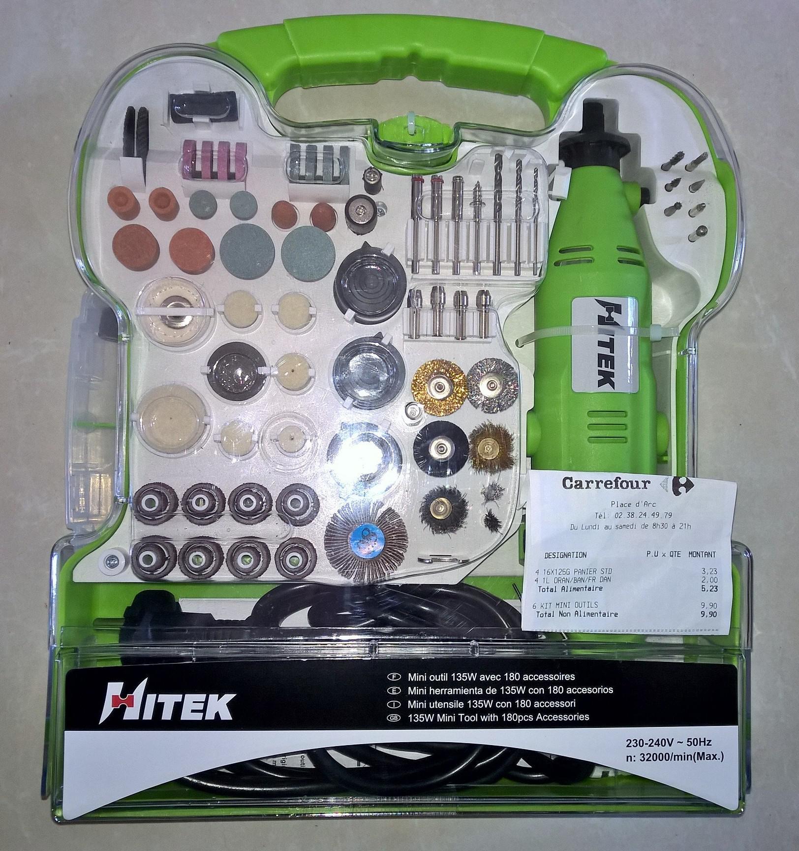 Mini outil 135W Hitek + 180 accessoires