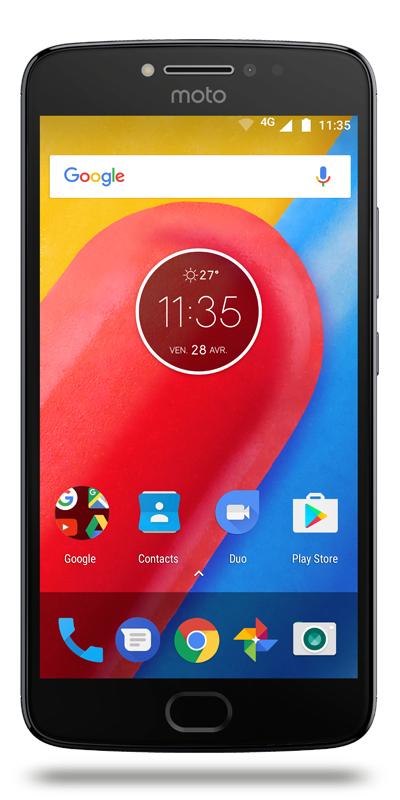 "Smartphone 5.5"" Motorola Moto E4 Plus - 16 Go, 3 Go ram, batterie 5000 mAh"