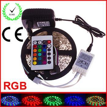 Bande à LED 5m RGB + adaptateur secteur + télécommande