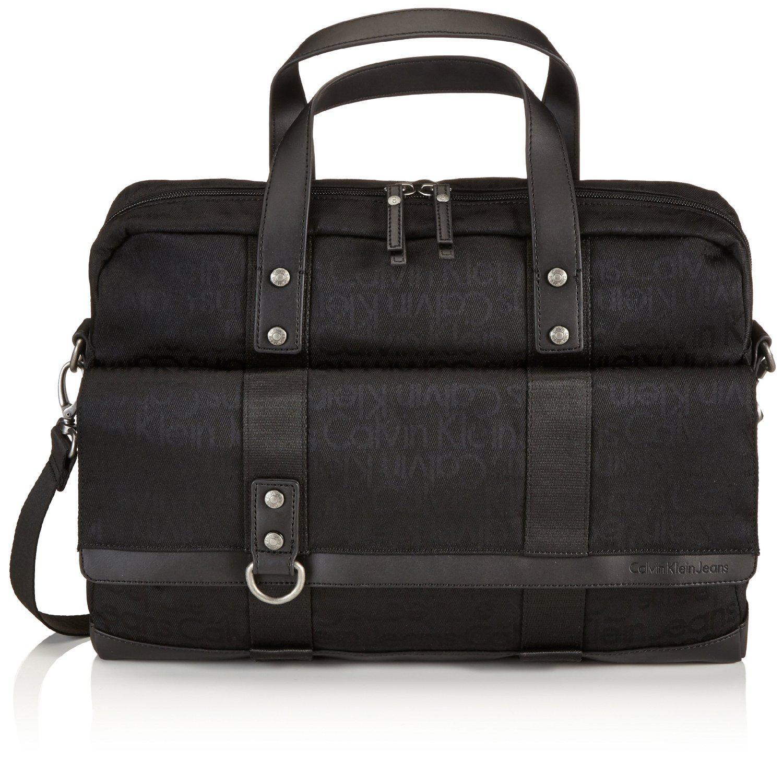 Sélection de sac bandoulière et malettes Calvin Klein Jeans en promotion - Ex : Mallette J5EJ500035