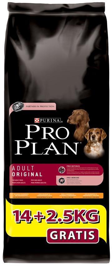 Croquettes pour chien Purina Pro Plan 14 + 2,5 kgs