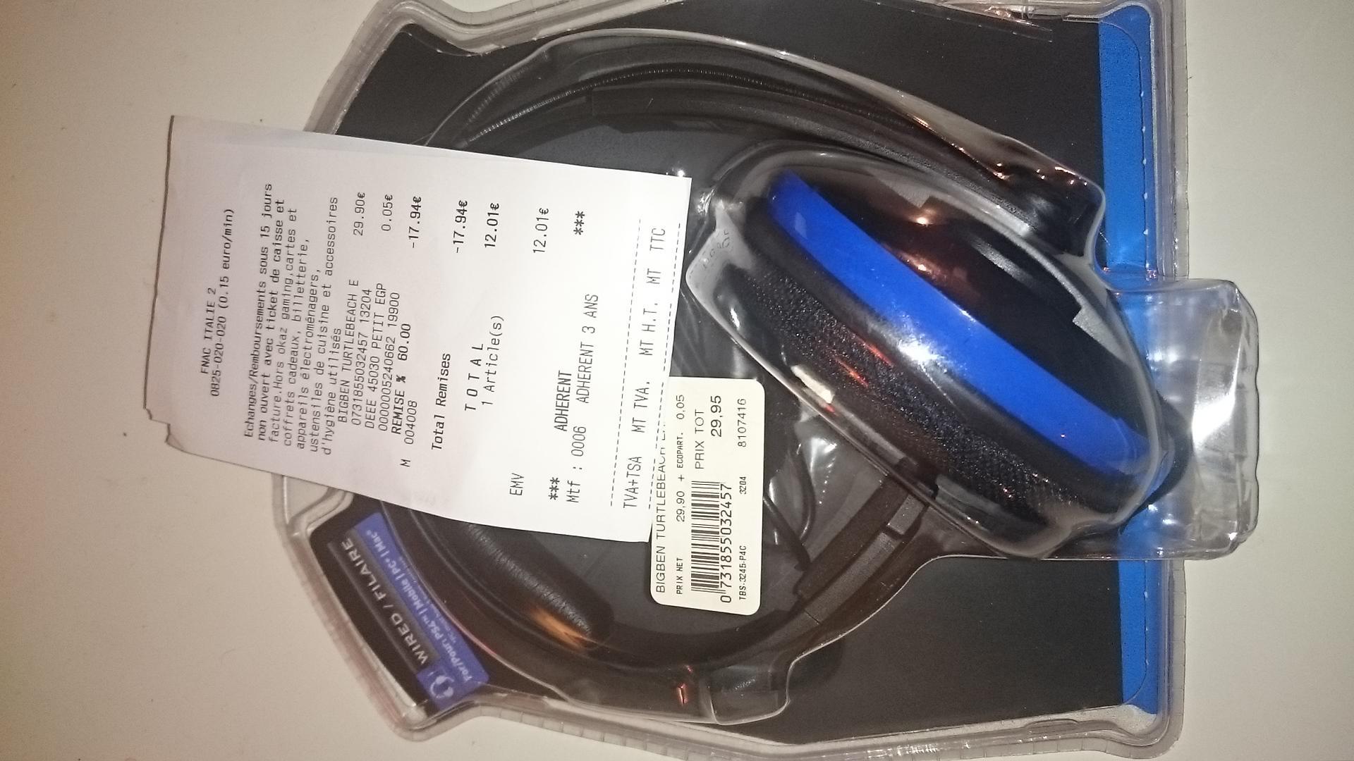 Casque Turtle Beach EarForce P4C pour PS4