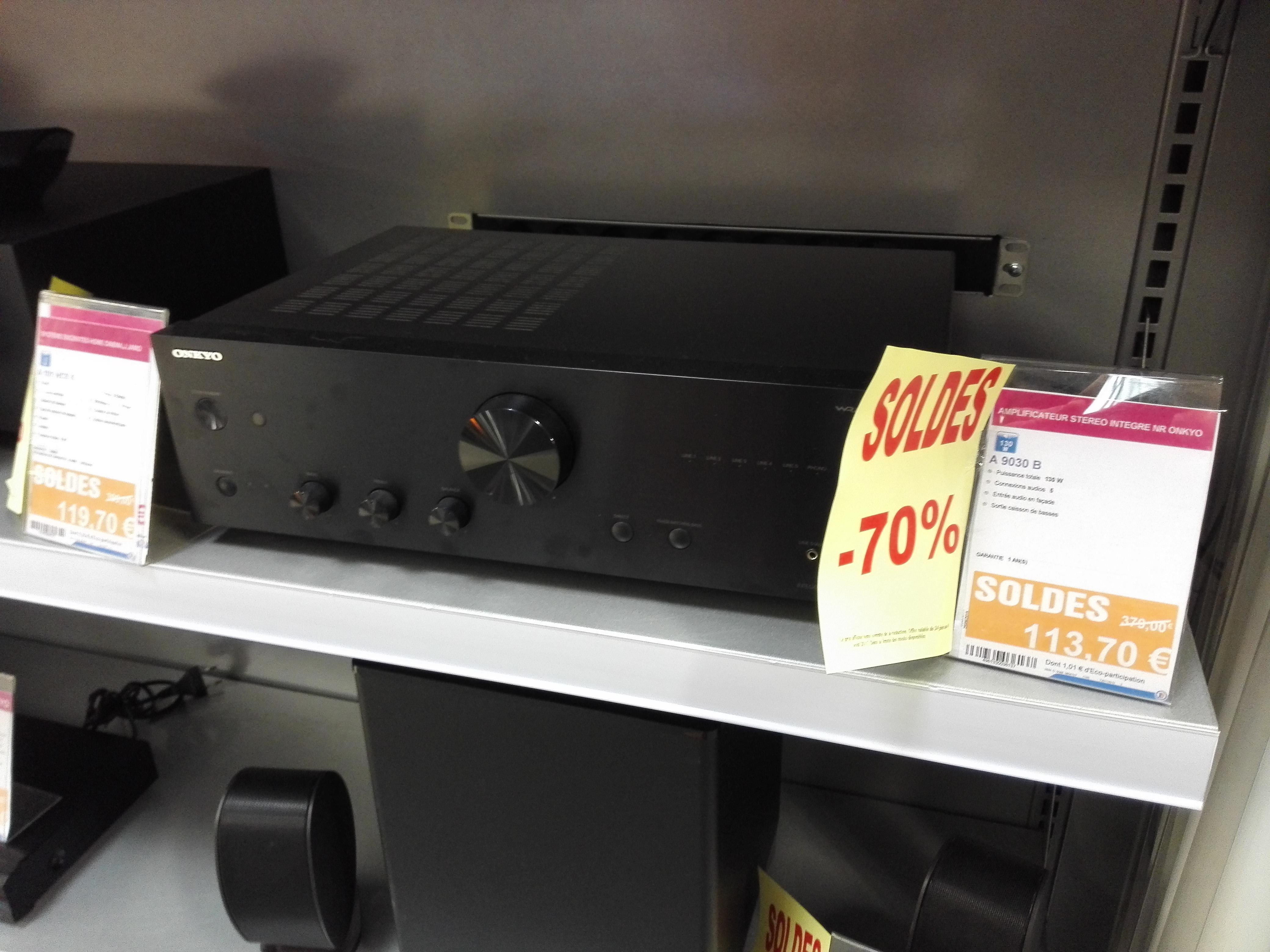 Ampli stéréo Onkyo A9030-B 2x 65W