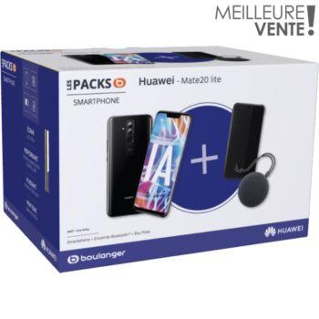 "Pack Smartphone 6.3"" Huawei Mate 20 lite 64Go + Etui + Enceinte Bluetooth"