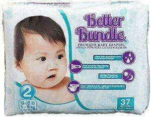 Lot de 148 Couches bébé babies best better bundle Taille 2 (7,58€ de port)