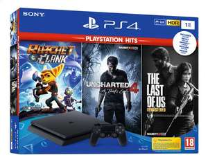 Console Sony PS4 Slim 1To + Ratchet & Clank + Uncharted 4 A thief's End + The Last of us Remastered (Frontalier Belgique)