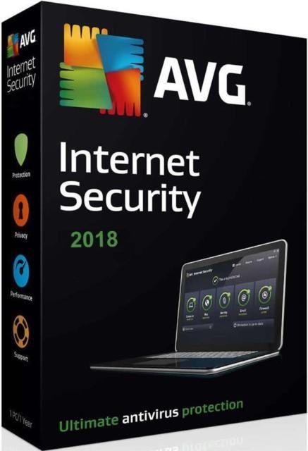 Logiciel antivirus AVG Internet Security 2019 gratuit sur PC - pendant 1 an (dématérialisé)