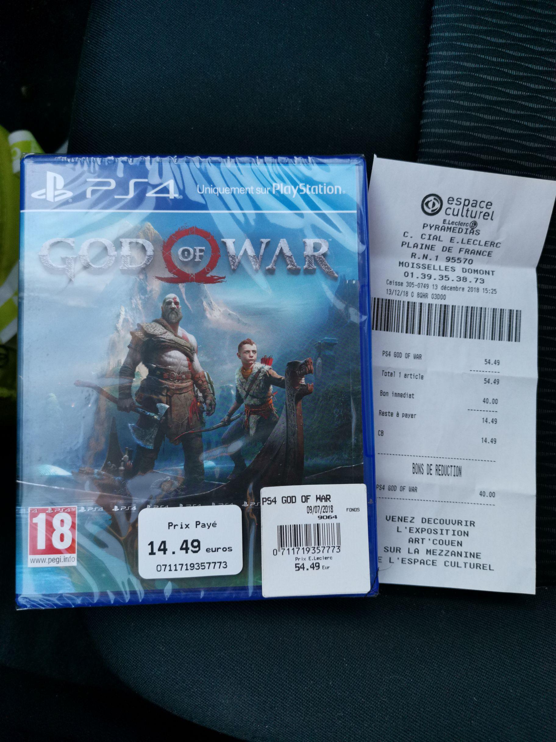 God of War sur PS4 (Moiselles 95)