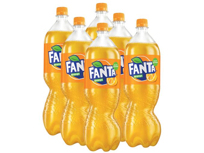 Lot de 6 bouteilles de 1.5L de Fanta Orange