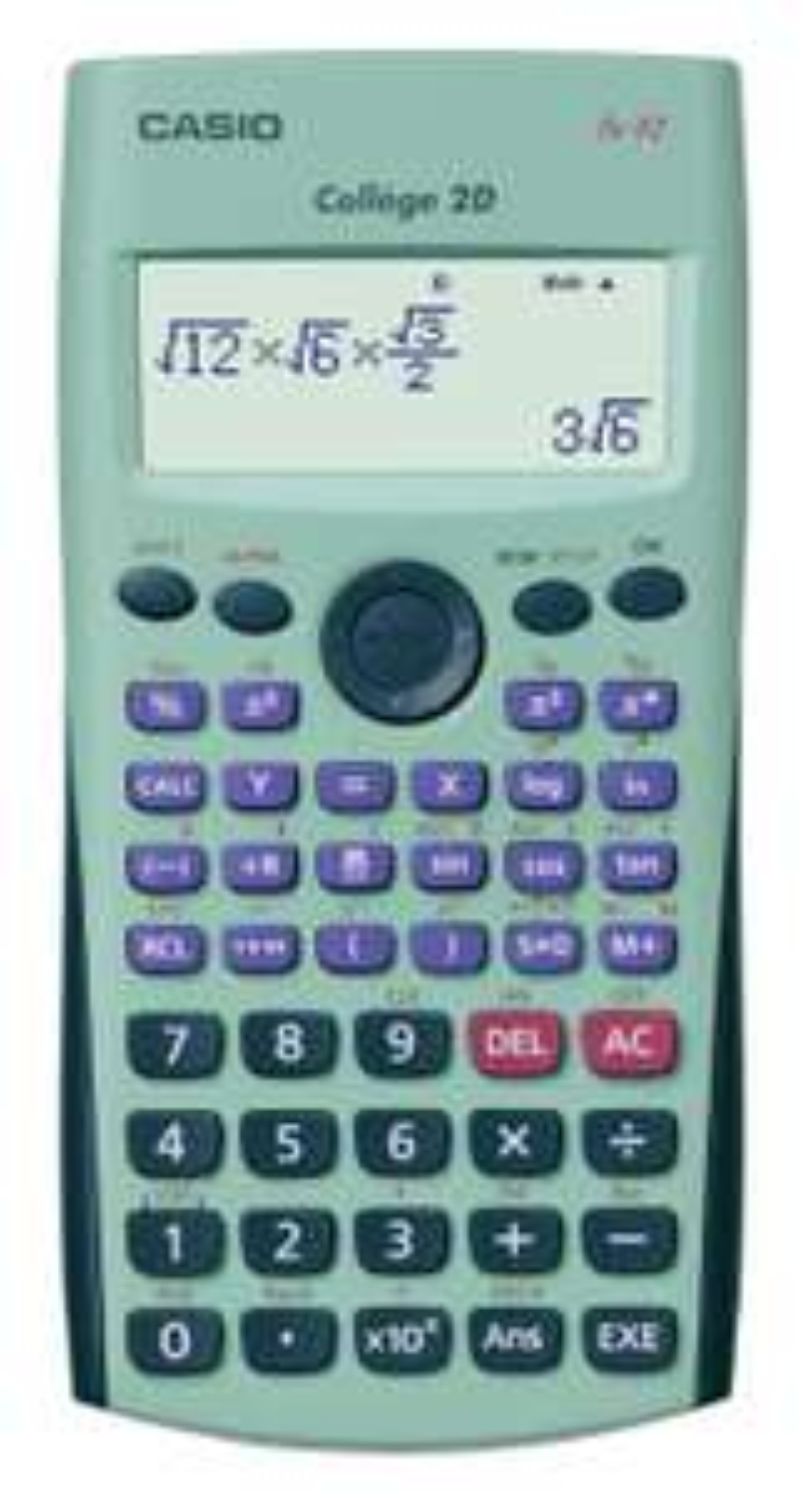 Calculatrice Casio Fx 92 Collège 2d+ (50% en bons d'achats + ODR de 3€)