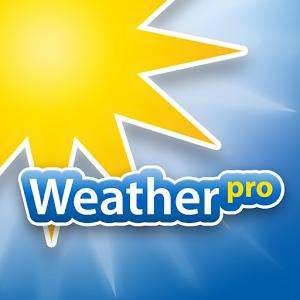 Application Weather Pro sur Android