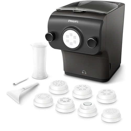 Machine à pâtes avec balance intégrée et 8 formes : Philips HR2382 Pasta Maker