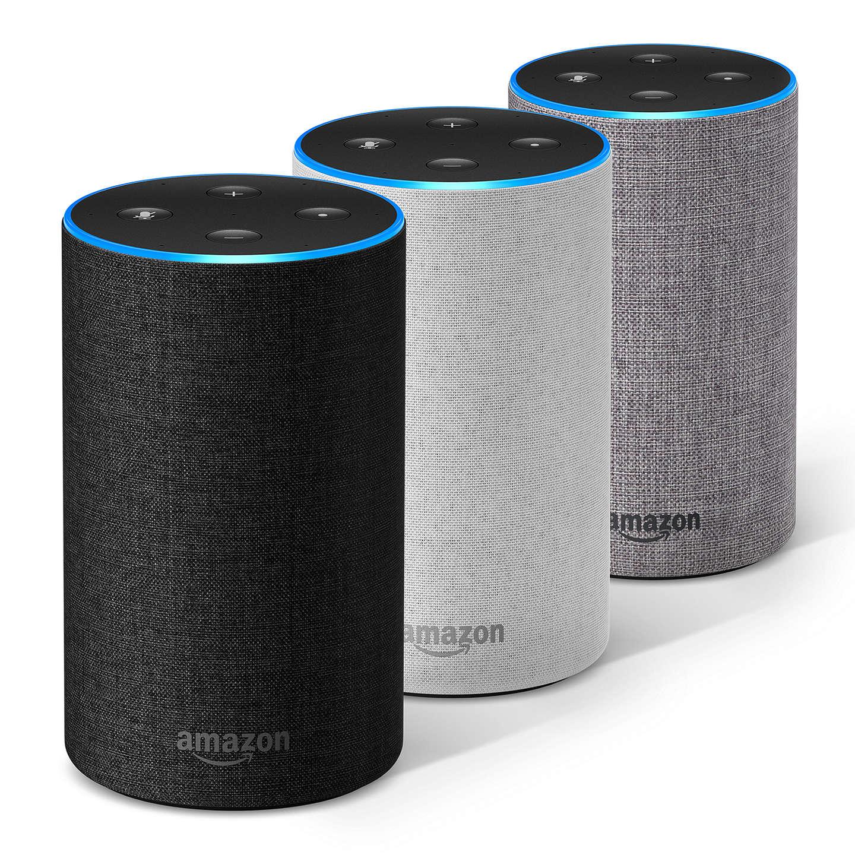 Assistant vocal / Enceinte connectée Amazon Echo 2 avec Alexa - Coloris au choix