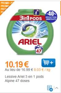 Lessive Ariel 3en1 pods 47 lavages (Via coupon de 5€) - National