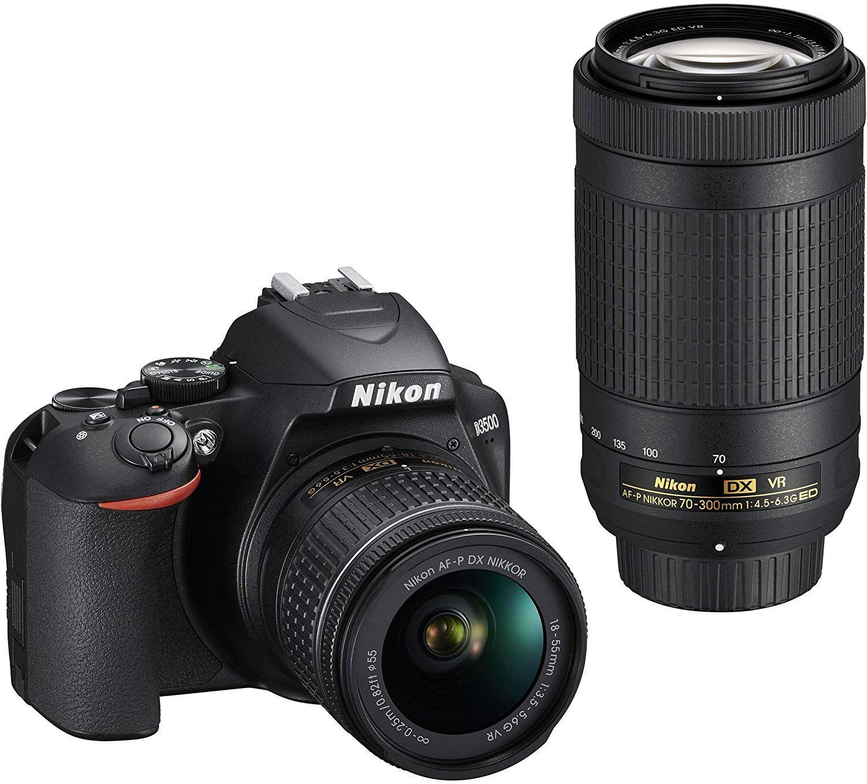 Appareil photo Nikon Reflex D3500 24Mpxl + Objectifs AF-P DX 18-55 f/3.5-5.G VR et AF-P DX 70-300 f/4.5-6.3G Ed VR (via ODR de 200€)