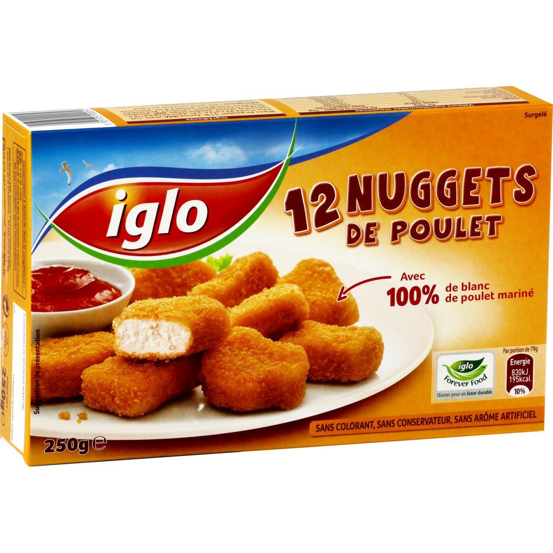 Lot de 2 boites de  12 nuggets Iglo (via 2 BDR + C-Wallet)