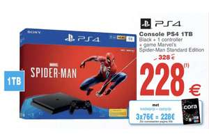 Console Sony PS4 1To + Marvel's Spider-Man (Frontaliers Belgique)
