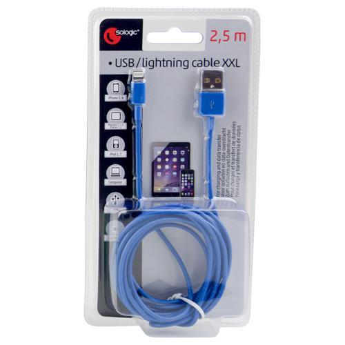 Câble Lightning pour iPhone 5/5S/6, différents coloris