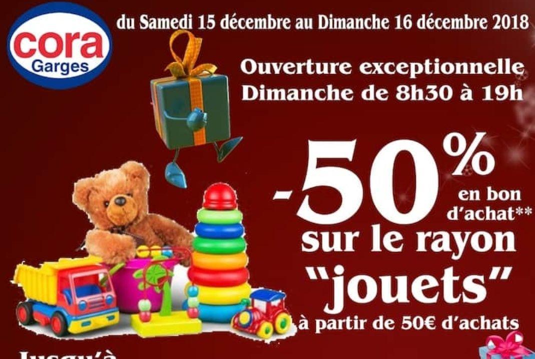 50% offerts en bon d'achat sur le rayon jouets - Ermont (95)
