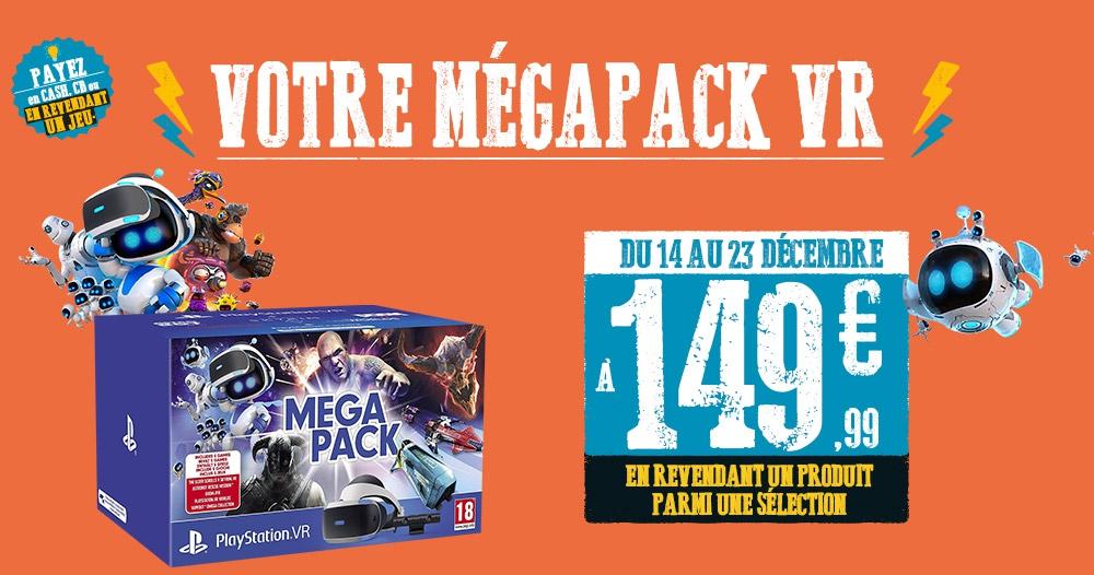 Mégapack Playstation VR (via reprise d'un jeu ou d'un accessoire)