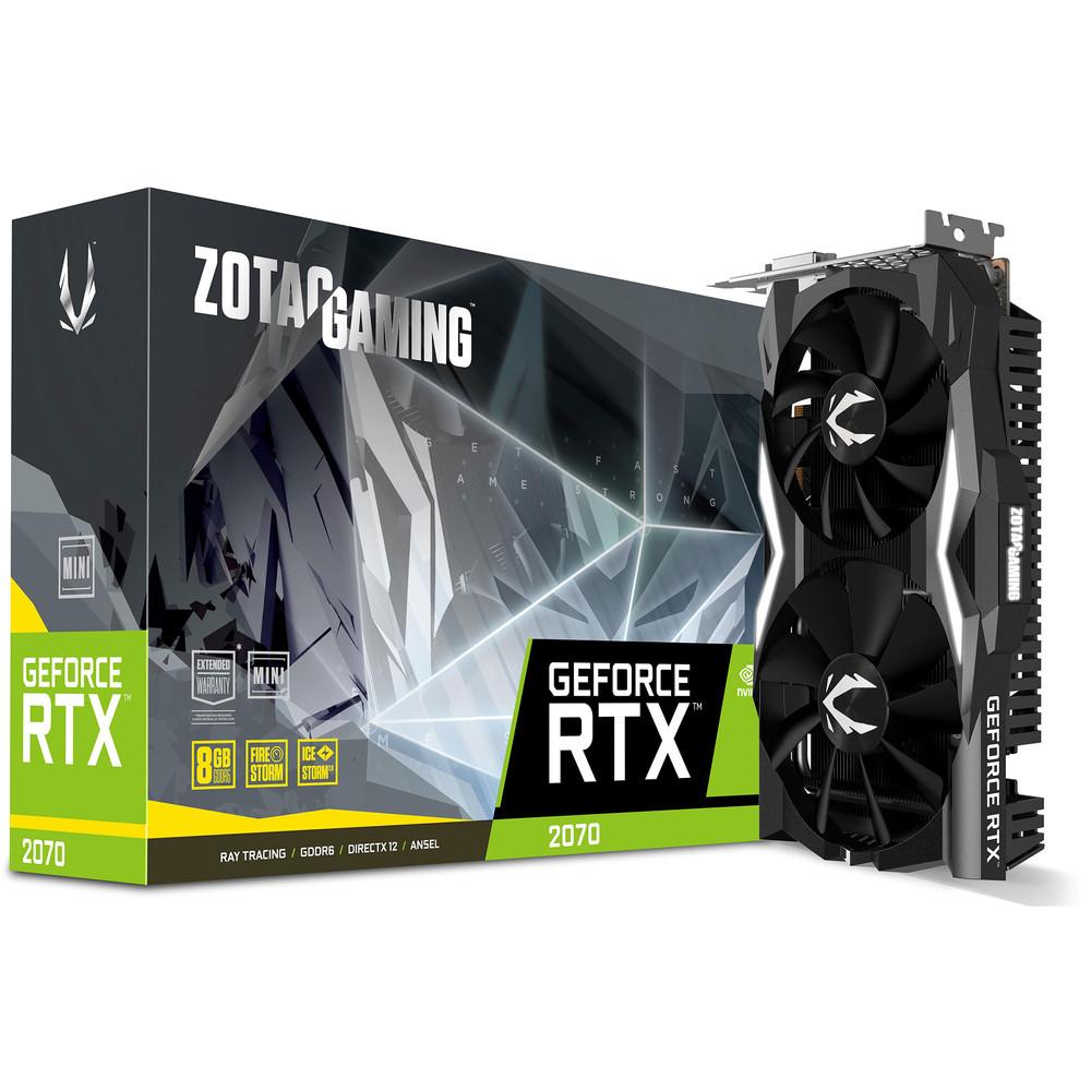 Carte graphique Zotac GeForce RTX 2070 Mini - 8 Go + Battlefield V offert